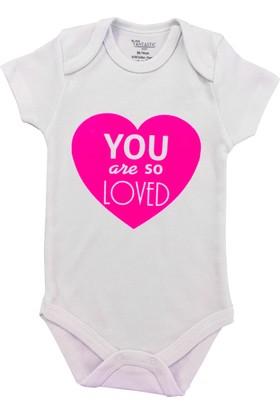 By Leyal For Kids You Are So Loved Kısa Kol Çıtçıtlı Body