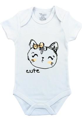 By Leyal For Kids Cute Kısa Kol Çıtçıtlı Body
