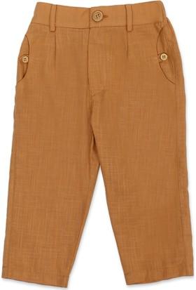 Tülü Akkoç Cep Detaylı Erkek Çocuk Pantolon