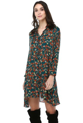 Cream&Rouge 18Y251 Elbise Çiçekli