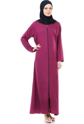 İhvan 5008-4 Pratik, Kendinden Örtülü Fuşya Namaz Elbisesi
