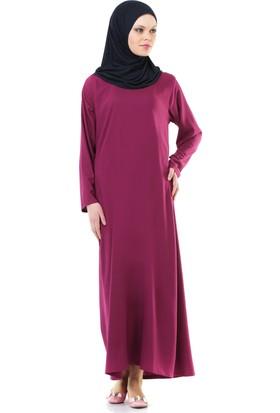 İhvan 5007-4 Fuşya Kendinden Örtülü Pratik Namaz Elbisesi
