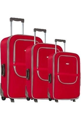 Laguna 235 Kırmızı Valiz Bavul Seti