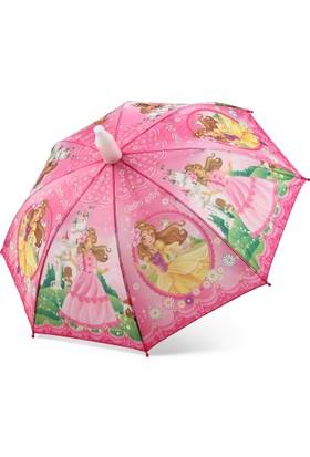 Almera Pvc Kılıflı Kız Çocuk Şemsiyesi - Cute Girl Pembe