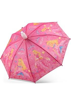 Almera Pvc Kılıflı Kız Çocuk Şemsiyesi - Elf Girl Pembe