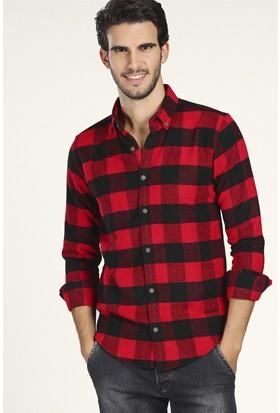 Philip Loren Kırmızı Damalı Oduncu Gömlek(JP19A07R02)