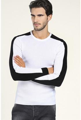 Philip Loren Beyaz Omuz Şeritli Triko(CE19A3242R02)
