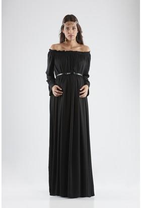 Isabella Hamile Kadın Elbise - Siyah