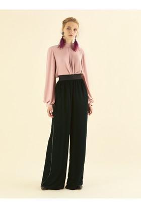 Roman Kadın K19 Yanı Şeritli Yeşil Pantolon