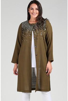 Womenice Haki Pul Detaylı Ceket