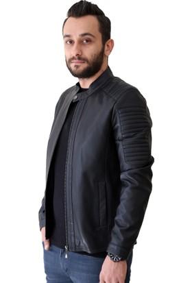 Dgn Pcse180103 Erkek Deri Pıu Ceket Siyah
