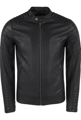 Jack & Jones Core Jcoclıp Pu Jacket Erkek Deri Ceket 12152113