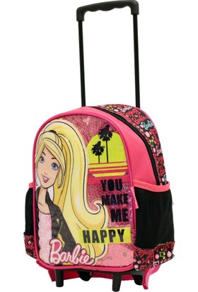 b0643b1e52387 Hkn95285 Barbie 2 Tekerlekli Çocuk Valiz Bavul Sırt Çantası ...