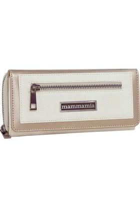 Mammamia D18Yd-36323 Cüzdan Simli Bej