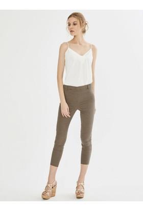 Xint Normal Bel Yandan Fermuarlı Skinny Kalıp Pantolon