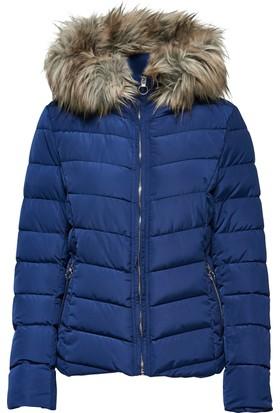 Only Mont Onlnew Ellan Quilted Fur Hood 15158943-BLU