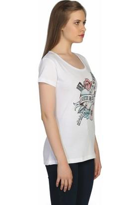 Bant Giyim Suicide Squad Harley Quinn Beyaz Kadın T-Shirt
