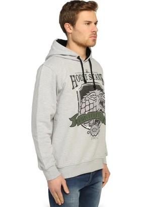 Bant Giyim Game Of Thrones Gri Kapüşonlu Erkek Sweatshirt Hoodie