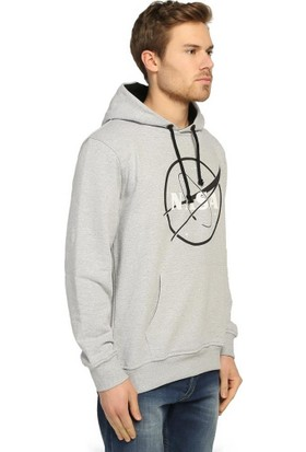 Bant Giyim Nasa Gri Kapüşonlu Erkek Sweatshirt Hoodie