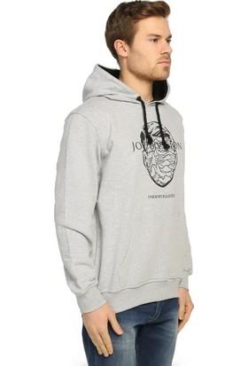 Bant Giyim Joy Division Gri Kapüşonlu Erkek Sweatshirt Hoodie