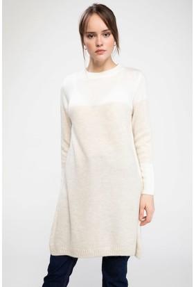 Defacto Kadın Renk Bloklu Triko Tunik