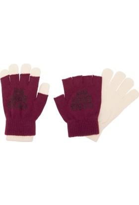 Defacto Kadın Slogan Baskılı Parmakları Renkli Eldiven