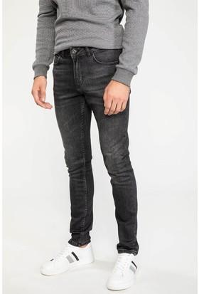 Defacto Erkek Carlo Skinny Fit Yırtık Detaylı Denim Pantolon