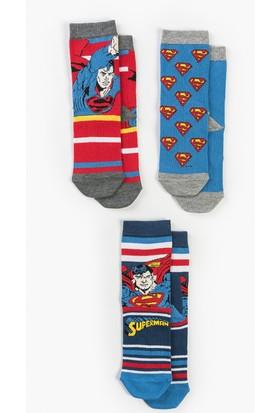 Superman Çocuk 3'lü Çorap 13657