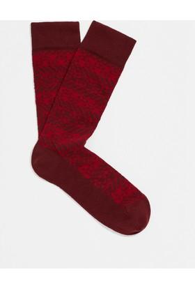 Mavi Kırmızı Patik Çorap