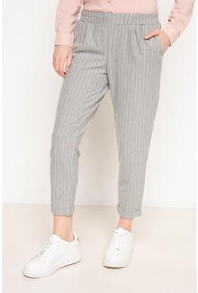 Defacto Kadın Çizgili Havuç Pantolon