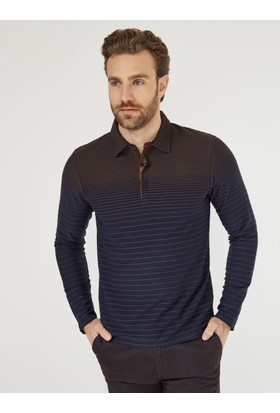Xint Mcl Gömlek Yaka Kahverengi Sweatshirt