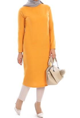 Naknaku Boğazlı Selanik Kumaş Elbise