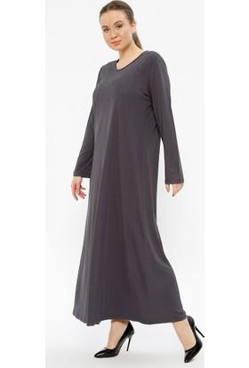 Metex Drop Baskılı Elbise - Gri