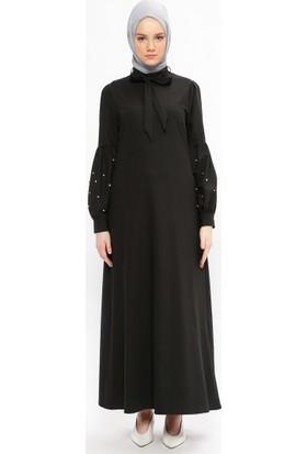 Neways Taşlı Elbise - Siyah