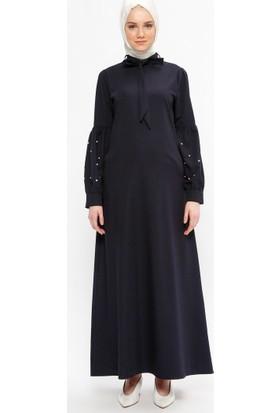 Neways Taşlı Elbise - Lacivert