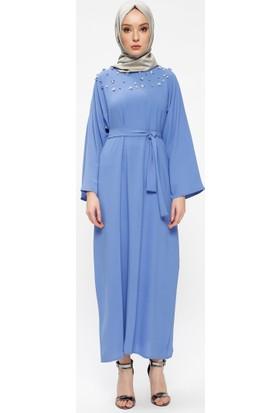 Tuncay İnci Detaylı Elbise - Mavi