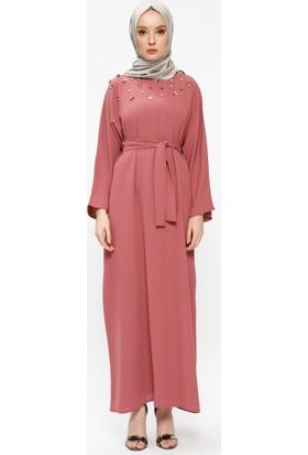 Tuncay İnci Detaylı Elbise - Kiremit