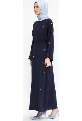 Tuncay Taşlı Elbise - Lacivert