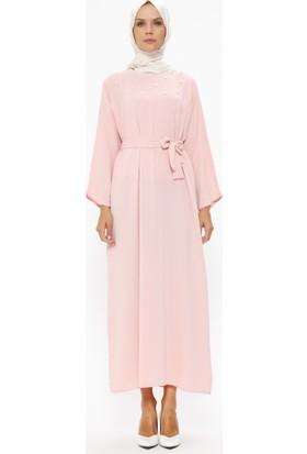 Tuncay İnci Detaylı Elbise - Pudra