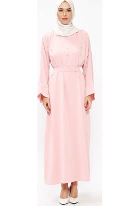 Tuncay Taşlı Salaş Elbise - Pudra