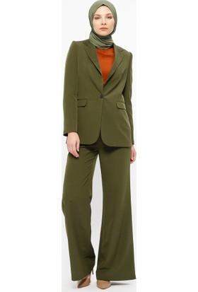 Fashion Light Bol Paça Pantolon - Haki