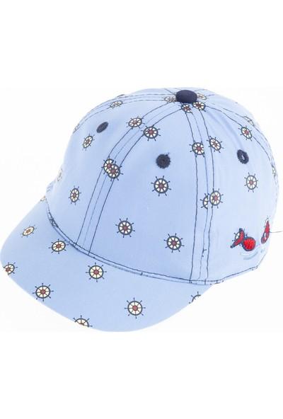 Soobe Erkek Bebek Kep Şapka Mavi (0-18 Ay)