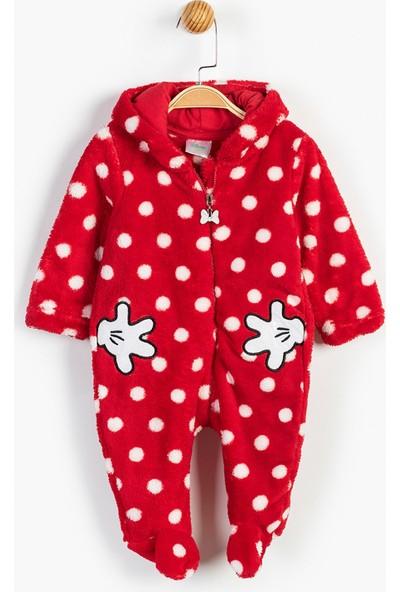 Disney Minnie Mouse Bebek Kapüşonlu Tulum 13476