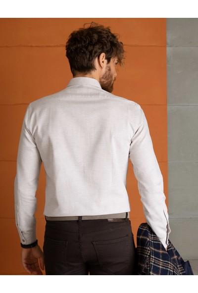 Pierre Cardin Erkek Dokuma Gömlek | 50194552-Vr011