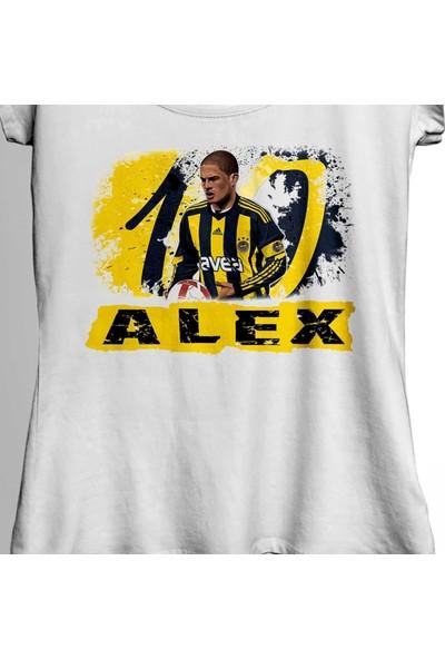 Kendim Seçtim Alex De Souza Fenerbahçe 1907 Gol Kralı Ali Koç Kadın Tişört