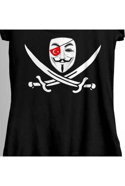 Kendim Seçtim Anonymous Turkey Türk Hacker Bilgisayar Yazılım Kadın Tişört