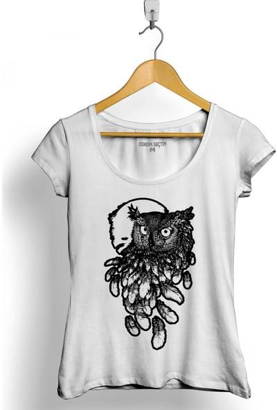 Kendim Seçtim Baykuş Dolunay Owl Kadın Tişört