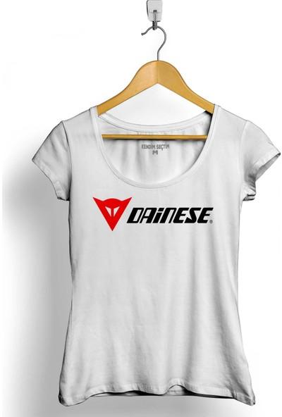 Kendim Seçtim Dainese Logo Motosiklet Motorcycle Bmw Honda Kadın Tişört