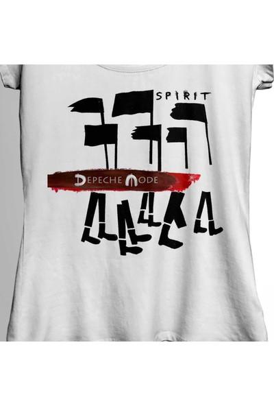 Kendim Seçtim Depeche Mode Spirit New Wave Grey Charcoal Kadın Tişört