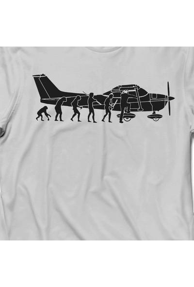 Kendim Seçtim İnsan Maymun Evrim Cessna Uçak Tayyare Kadın Tişört